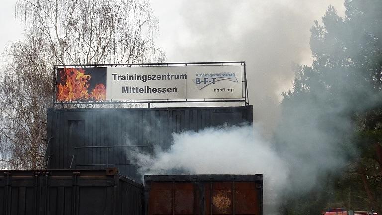 Brandübungsanlage in Betrieb